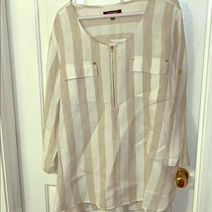 Lined striped blouse